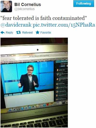 Bil Cornelius Welcomes Word Faith Preacher David Crank To